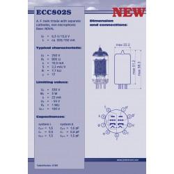 ECC802 S voorversterkerlamp | JJ Electronic