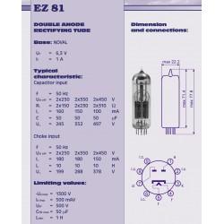 EZ81 - 6CA4 gelijkrichter buis | JJ electronic