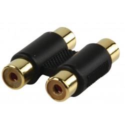 Adapter plug 2xRCA kontra stekker - 2 x RCA kontra stekker