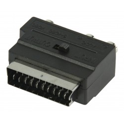 adapter SCART(m) - 3xRCA (F) and S-Video (F)