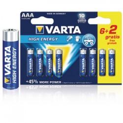 Alkaline Battery AAA 1.5 V High Energy | Varta