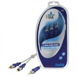 Stereo Verlengkabel 3.5 mm Male - 2x RCA Male 5.00 m Grijs | HQ