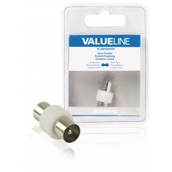 coax koppelstuk male - male | Valueline