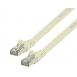 CAT6 F/UTP Netwerkkabel - RJ45 Flat - Wit | Valueline