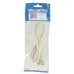 CAT 6 F/UTP Network Cable - Flat RJ45 - White | Valueline