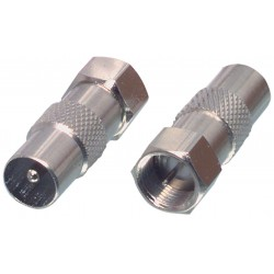 Coax/Antenne coupler F-connector - coax (male) | Valueline