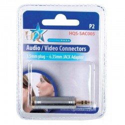 3.5mm - 6.33mm adaptor