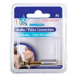 6.35mm plug - 3.5mm socket